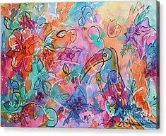 Toucan Dreams Acrylic Print by Ellen Levinson