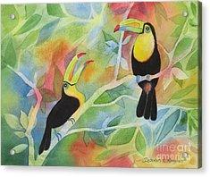 Toucan Play At This Game Acrylic Print by Deborah Ronglien
