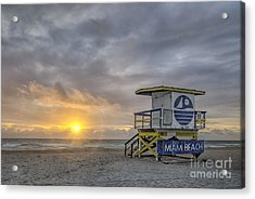 Touch A New Day Acrylic Print by Evelina Kremsdorf