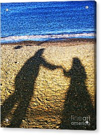 Touch Acrylic Print by Jo Collins