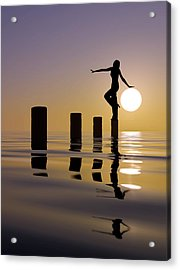 Touch My Sun Acrylic Print by Mustafa Celikel