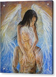 Touch Of An Angel Acrylic Print by Nik Helbig