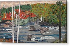 Touch Of Autumn Acrylic Print by Anita Jacques