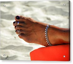 Touch Of Sun Acrylic Print by Karen Wiles