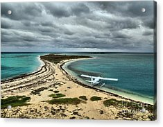 Touchdown At Tortugas Acrylic Print by Adam Jewell