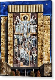 Touchdown Jesus Acrylic Print by Mountain Dreams