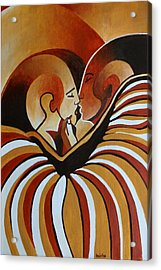 Acrylic Print featuring the painting Touched By Africa I by Tracey Harrington-Simpson