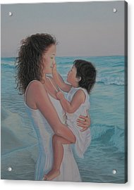 Touched By An Angel Acrylic Print by Holly Kallie