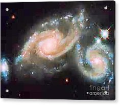 Touching Galaxies Acrylic Print