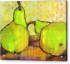 Touching Green Pears Art Acrylic Print