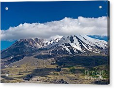 Touching Mt. St. Helens Acrylic Print by Jackie Follett