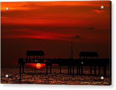 Acrylic Print featuring the photograph Touching The Sunset by Richard Zentner
