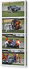 Tough Day For #26 Acrylic Print by James Mock