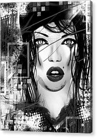 Tough Love Black Acrylic Print
