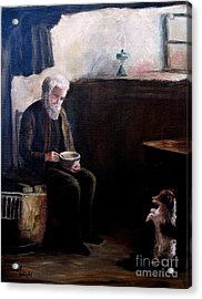 Acrylic Print featuring the painting Tough Times by Hazel Holland