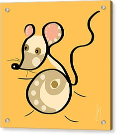 Thoughts And Colors Series Mouse Acrylic Print