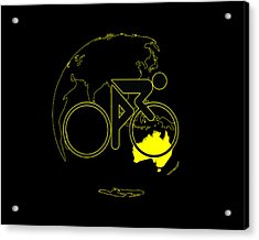Acrylic Print featuring the digital art Tour De France 2011 Tribute by Brian Carson