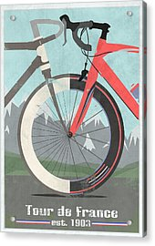 Tour De France Bicycle Acrylic Print by Andy Scullion