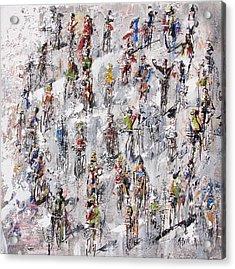 Tour De France Stage 2 Acrylic Print by Neil McBride