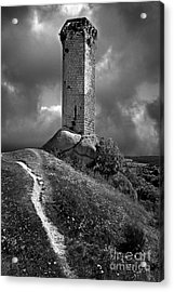 Tour De La Clauze Tower. Saugues. Haute-loire Department. Auvergne. France Acrylic Print by Bernard Jaubert
