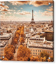 Tour Eiffel Tower Aerial View Acrylic Print by Franckreporter