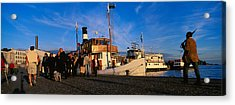 Tourboat Moored At A Dock, Helsinki Acrylic Print