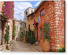 Acrylic Print featuring the painting Tourettes Sur Loup France by Tim Gilliland