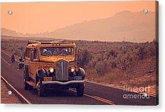 Touring Yellowstone Acrylic Print by Edward Fielding