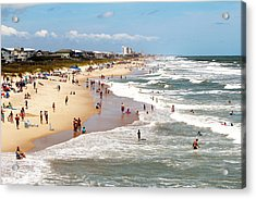 Tourist At Kure Beach Acrylic Print
