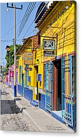 Acrylic Print featuring the photograph Tourist Shops - Mexico by David Perry Lawrence