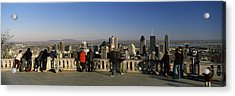 Tourists At An Observation Point Acrylic Print by Panoramic Images