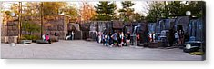 Tourists At Franklin Delano Roosevelt Acrylic Print