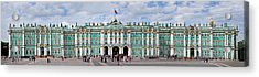 Tourists In Front Of Winter Palace Acrylic Print