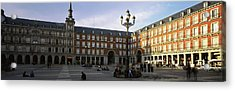 Tourists In The Courtyard Acrylic Print by Panoramic Images