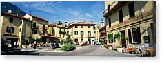 Tourists Sitting At An Outdoor Cafe Acrylic Print by Panoramic Images