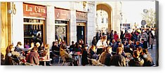 Tourists Sitting Outside Of A Cafe Acrylic Print