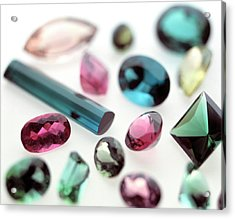 Tourmaline Gemstones Acrylic Print by Lawrence Lawry/science Photo Library