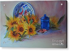 Acrylic Print featuring the painting Tournesols by Beatrice Cloake