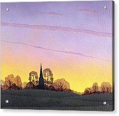 Towards Grandborough Acrylic Print by Ann Brian