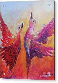 Acrylic Print featuring the painting Towards Heaven by Sher Nasser