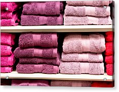 Towels Acrylic Print by Tom Gowanlock