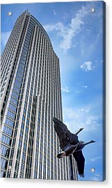 Tower And Geese Acrylic Print by Nikolyn McDonald