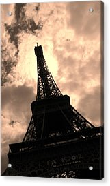 Tower And The Sky Acrylic Print by Cleaster Cotton