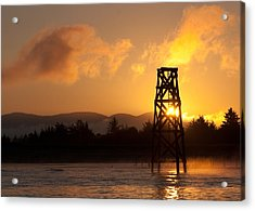 Acrylic Print featuring the photograph Tower At Dawn by Erin Kohlenberg