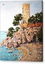 Tower At Playa De Aro Acrylic Print