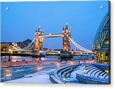 Tower Bridge And City Hall London Acrylic Print by Owenprice