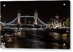 Tower Bridge London England Acrylic Print by John Hastings