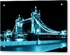 Tower Bridge Blue Acrylic Print by Dan Davidson