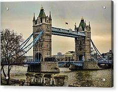 Tower Bridge On The River Thames Acrylic Print