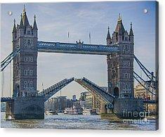 Tower Bridge Opened Acrylic Print